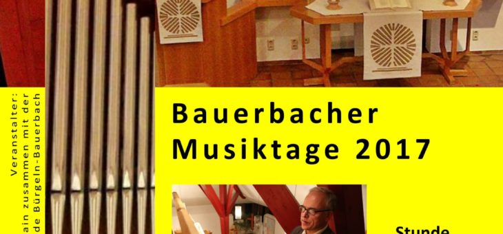 Bauerbacher Musiktagen 12. März um 19 Uhr