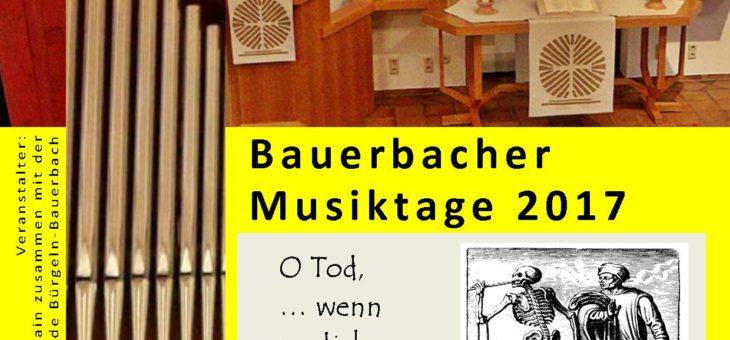 Bauerbacher Musiktage 12.03.2017