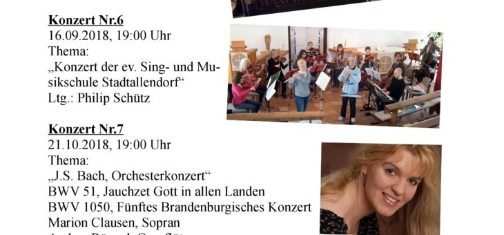 Klangvoll – Bauerbacher Musiktage 2018