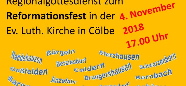 Alles Gnade, oder was? – Regionalgottesdienst zum Reformationsfest