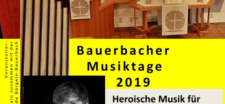 KLANGVOLL – BAUERBACHER MUSIKTAGE 2019