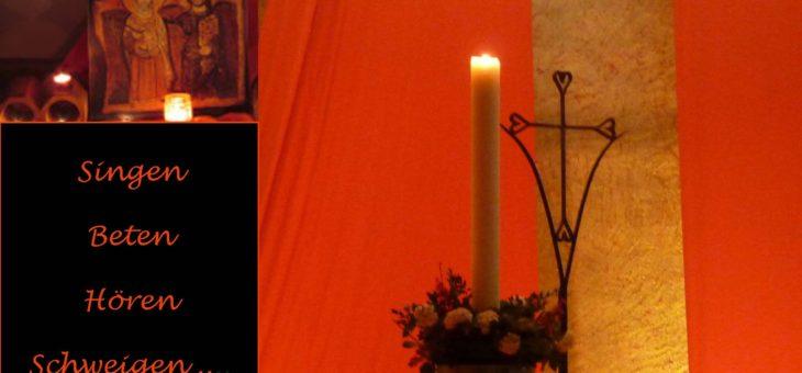 Taizégottesdienst am 24. November um 18 Uhr in der Kreuzkirche