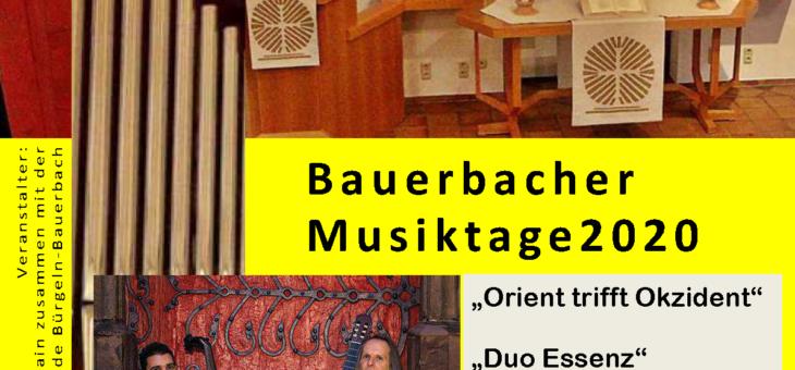 "Bauerbacher Musiktage – ""Orient trifft Okzident"" – 26. Januar 2020 um 19.00 Uhr"